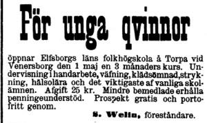 Klippet kommer från Tidning för Wenersborgs stad och län.