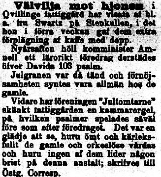Klippet kommer från Östgötaposten 18990106