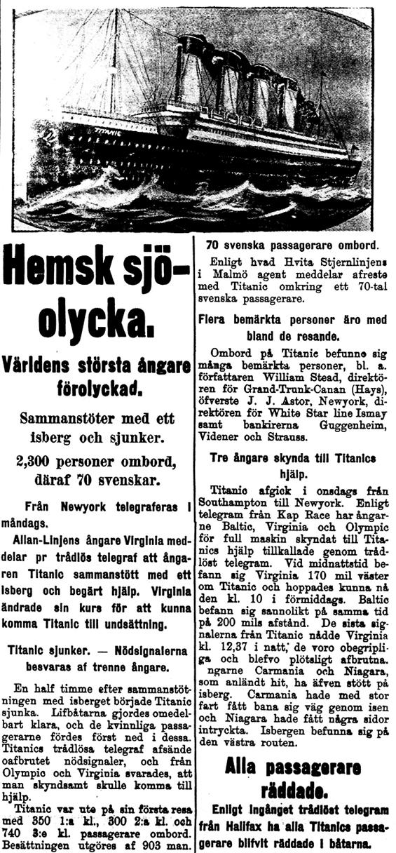 Klippet kommer från Kalmar, 16 april 1912