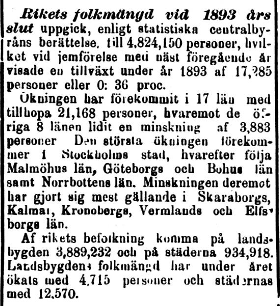 Klippet kommer från Norra Skåne 4 september 1894