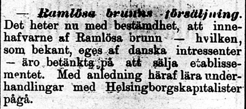 Klippet kommer från Norra Skåne den 2 september 1896.