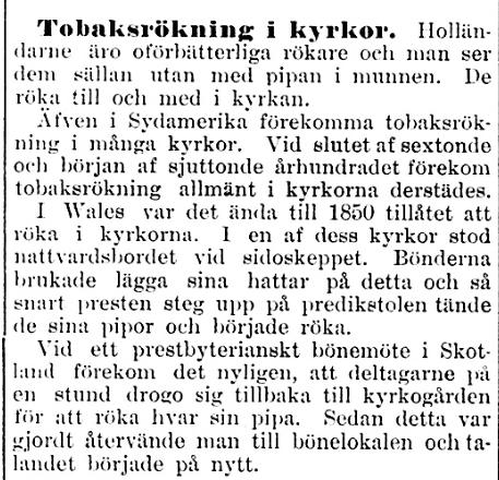 Klippet kommer från tidningen Kalmar den 19 maj 1899.