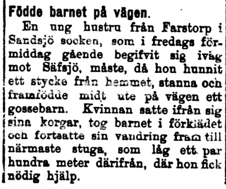 Klippet kommer från tidningen Kalmar den 30 januari 1914.