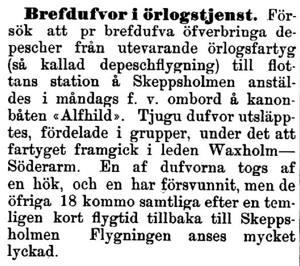 Klippet kommer från Kalmar den 18 september 1896