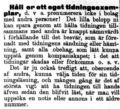 Klippet kommer från Norra Skåne 18970917