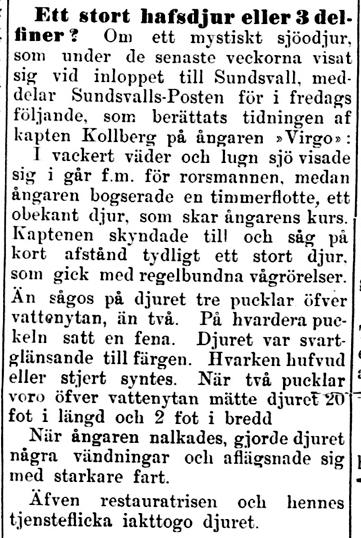 Klippet kommer från Kalmar den 5 juli 1899