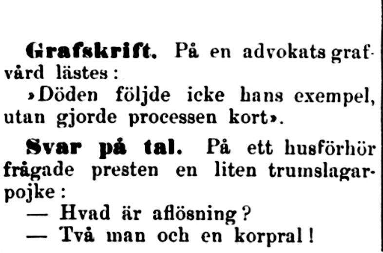 Klippet kommer från Kalmar den 5 februari 1900