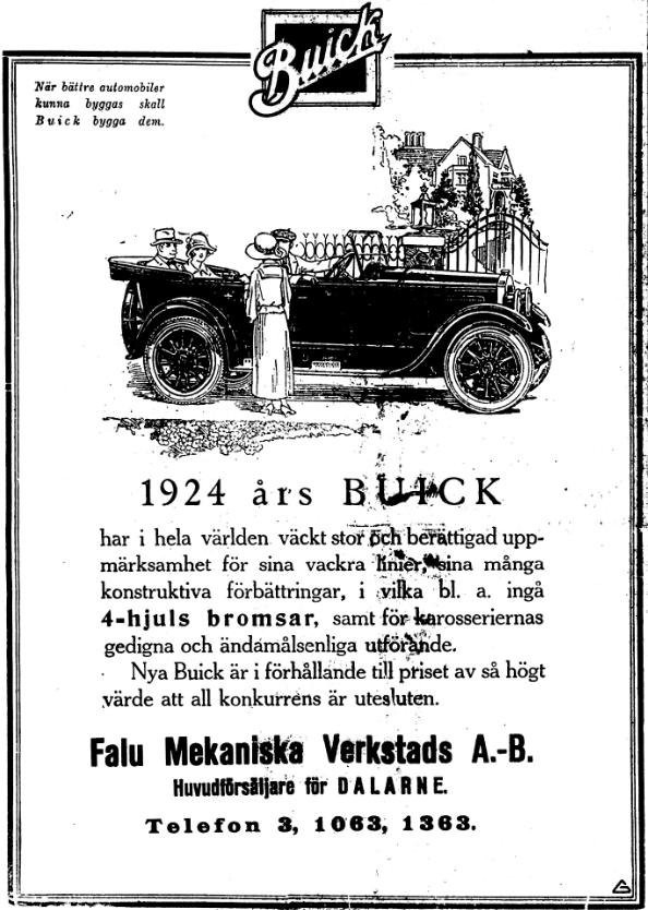 Klippet kommer från Dalpilen den 15 juli 1924