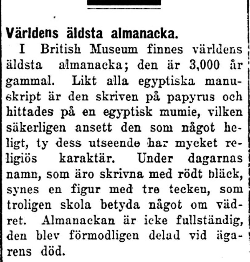 Klippet kommer från Dalpilen den 16 september 1924