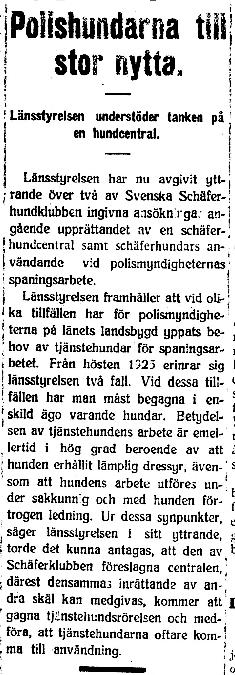 Klippet kommer från Dalpilen den 30 januari 1926