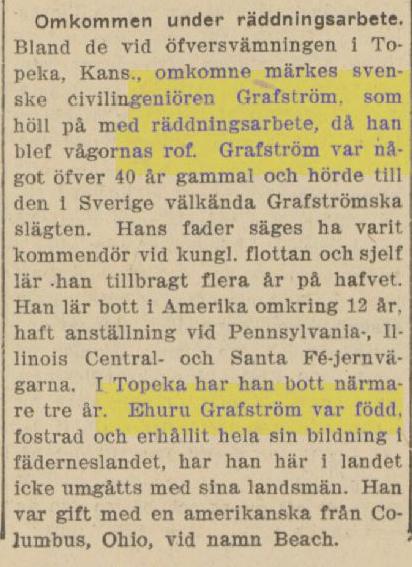 Klippet kommer från Svenska Folkets Tidning den 17 juni 1903. Tidningen gavs ut i USA.