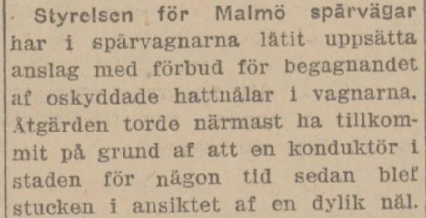 Klippet kommer från Svenska Folkets tidning 19130402